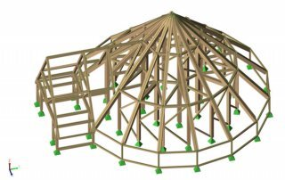 Timber structural model
